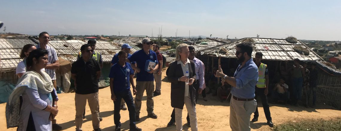 Deputy AS Alice Wells at Kutupalong camp in Cox's Bazar visiting Rohingya refugees