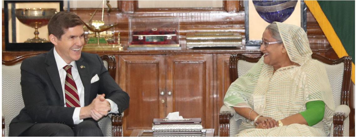 Ambassador Miller Met the Honorable Prime Minister, Sheikh Hasina