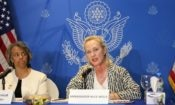 Alice Wells Press Conference in Dhaka
